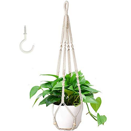 Aniiche Macramé Plante Suspension,Cintres pour Plantes en Macramé à Suspendre à la Main en Corde de Coton à Suspendre pour Intérieur ou Plafond
