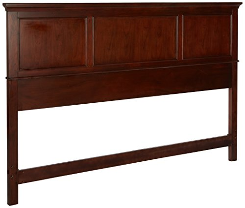 Home Styles Chesapeake Panel King Bed Headboard with Picture Frame Moldings, Cherry Finish