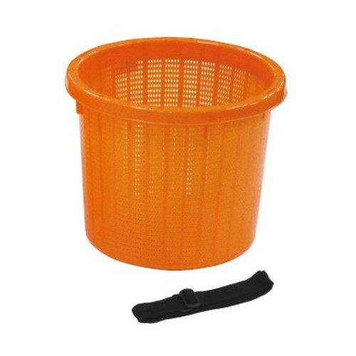 安全興業 丸型収穫かご オレンジ 小 ×20