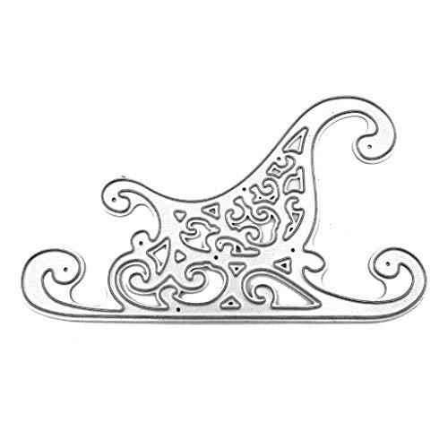 Hothap Weihnachten Schlitten Stanzformen Schablone DIY Scrapbooking Album Stempel Papier Art Decor