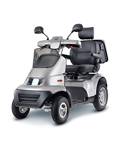 Afikim – Afiscooter S4 – Full Size Mobility Scooter – 4-Wheel – Metallic Silver