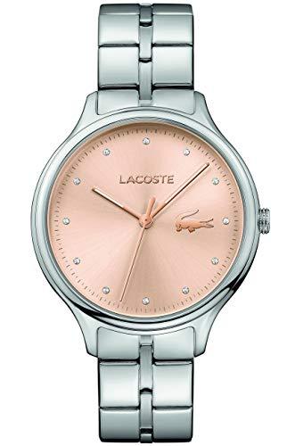 Lacoste Reloj Analógico para Mujer de Cuarzo con Correa en Acero Inoxidable 2001031