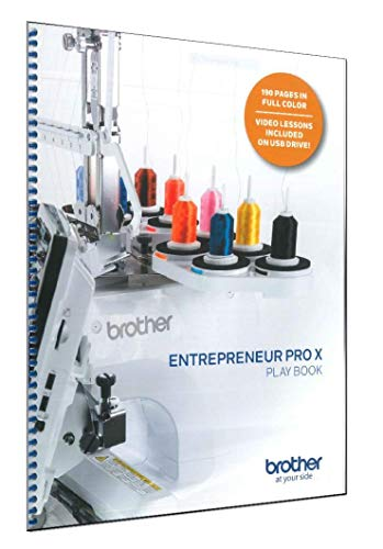 Brother PR1050X Entrepreneur PRO X Play Book | SAPRBOOK | Instructional Guide and Workbook w/Video Lessons on USB Drive
