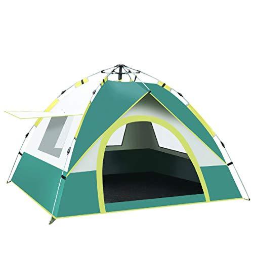 A-myt es ligero y portátil con fuerte y duradero Nueva tienda de campaña de una sola capa de campaña de campaña de campaña de pesca Tienda al aire libre 3-4 personas Oxford Paño Camping Tienda de camp