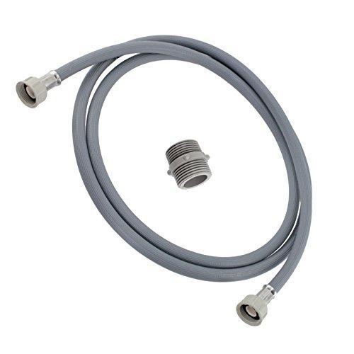 SPARES2GO rechte einde koud water vullen inlaat slang verlenging voor Lamona wasmachine (2.5M)