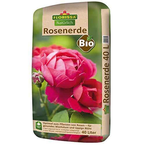 Florissa Natürlich 58584 Bio Rosenerde (40 l) | torffrei | für alle Rosen, Braun