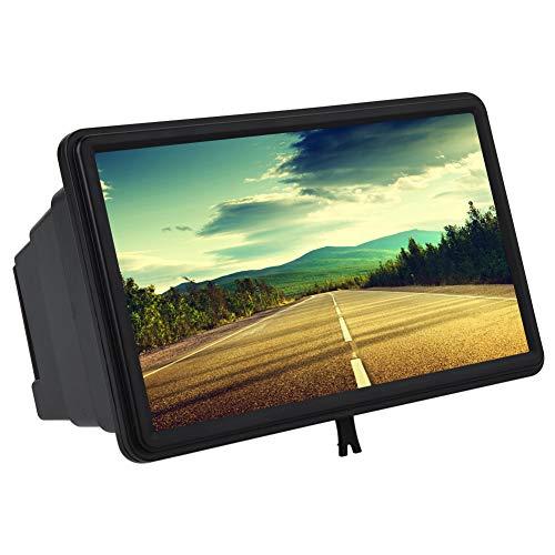 Kafuty Tragbarer Handy Vergrößerungslupe Bildschirm Magnifier Portable 12 Zoll Smartphone Amplifier 3D Plastik Hoch Auflösender Amplifier Geeignet für Camping, Tourismus usw.