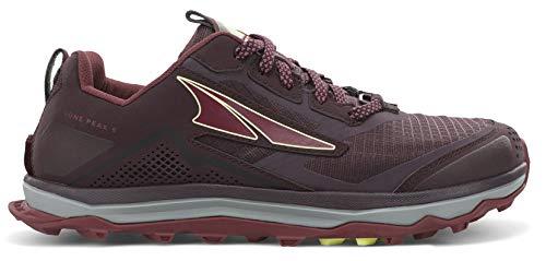 ALTRA AL0A4VR7 Women's Lone Peak 5 Trail Running Shoe, Dark Port/Light Rose - 8 M US