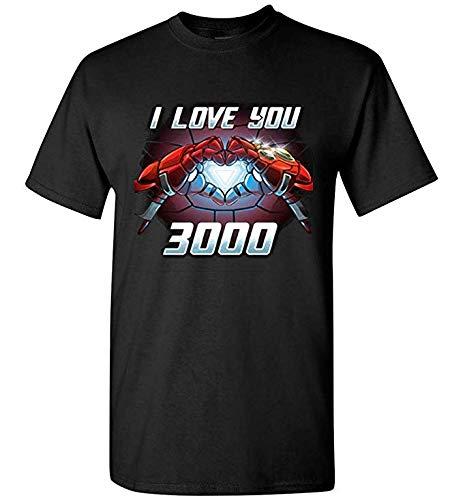 I Love You 3000 Iron-Man T-Shirt Manga Corta para Expresando Amor Paternal,para Niña