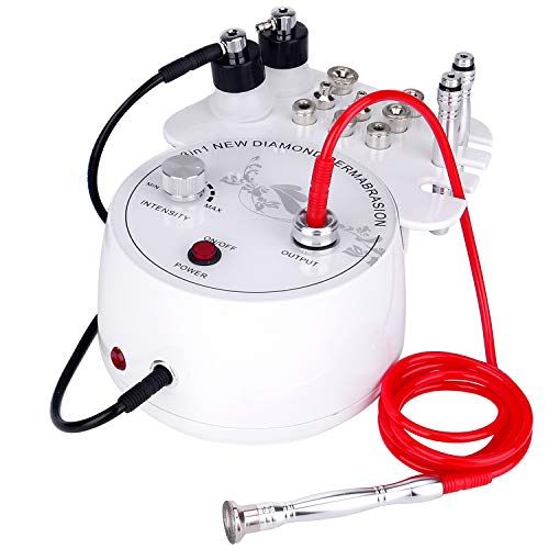 3 in 1 Diamond Microdermabrasion Dermabrasion Machine, Mcwdoit Diamond Microdermabrasion Machine for Personal Home Use, 0-55cmHg Suction Power Facial Beauty Device