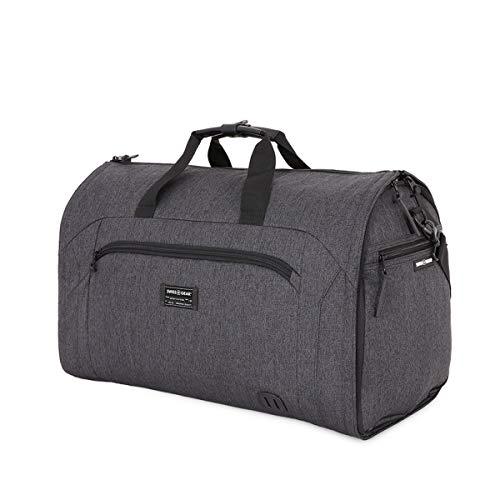 SwissGear Full-Sized Folding Garment Duffel Bag, Heather Grey, Hanging (23-Inch)