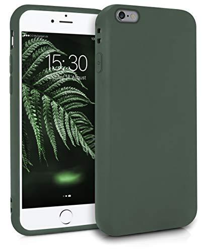 MyGadget Silikon Hülle für Apple iPhone 6s Plus / 6 Plus - robuste Schutzhülle TPU Case Slim Silikonhülle Back Cover Ultra Kratzfest Handyhülle matt Olivgrün
