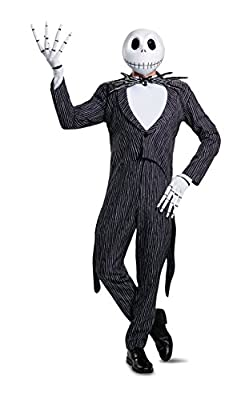 Disguise mens Jack Skellington Prestige Adult Sized Costume, Multi, X-Large US from Disguise Costumes