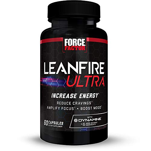 LeanFire Ultra Thermogenic Fat Burner, Energy Booster, and Appetite Suppressant Supplement with Green Tea Extract, L-Carnitine, and 5-HTP to Increase Energy and Burn Fat, Force Factor, 60 Capsules