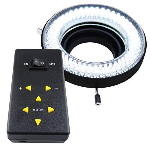 144 LED microscopio cámara anillo de luz