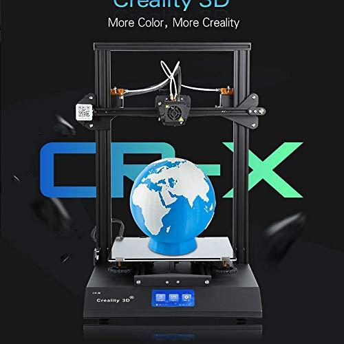 Hot Creality Cr-x 3D Double Couleur Impression Réinitialiser Imprimante Bricolage Kit Double Écran Tactile Ventilateur Frais + Filament 2kg