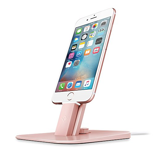 Twelve South HiRise Deluxe Desktop Stand für iPhone, Smartphones (inkl. Lighting-Kabel, Micro-USB Kabel für Laden und Synchronisierung) rosegold