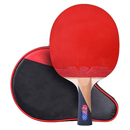 Lerten Raquetas de Tenis de Mesa,Bate de Tenis de Mesa Ofensiva Profesional de 4 Estrellas,Excelente Control Y Flexibilidad para la Actividad Familiar Principiante/A/mango largo