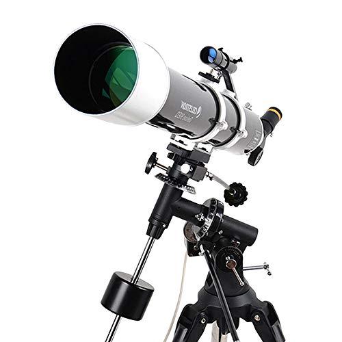 LXHkk Astronomische Telescoop Volledige Oppervlak Breedband Coating EQ2 High Load Equatorial Mount Positieve Zenith Spiegel 6 * 30 Star Finder High-Precision Tracking Motor RVS Statief