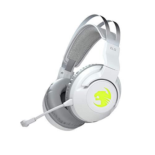 Roccat Elo 7.1 Air - Kabelloses Surround-Sound RGB PC Gaming Headset, weiß