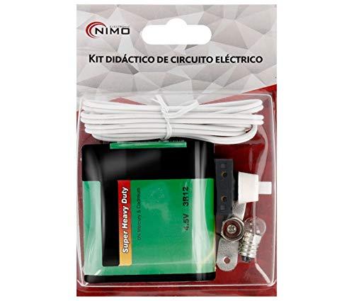 Kit DIDACTICO Escolar con Bombilla Y BATERIA para Circuito ELECTRICO