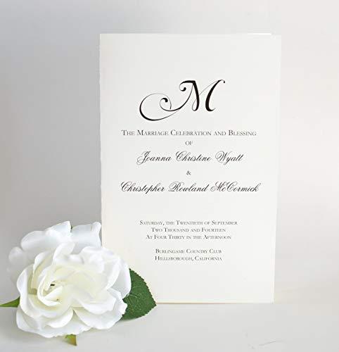 Wedding Programs, Black and White Wedding Booklets, The Natalie Wedding Program Sample