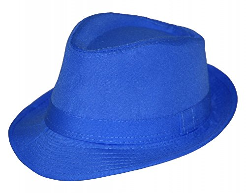 Sommer Fedora Hut Panama Strand Gangster Party Farbe blau