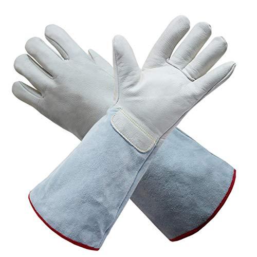 MBEN Lange, kältebeständige Handschuhe, Flüssigstickstoff-Kältespeicher-Trockeneis-LNG-Frostschutzmittel, Rindsleder-Schutzhandschuhe, spezielle Kälteschutzhandschuhe,L
