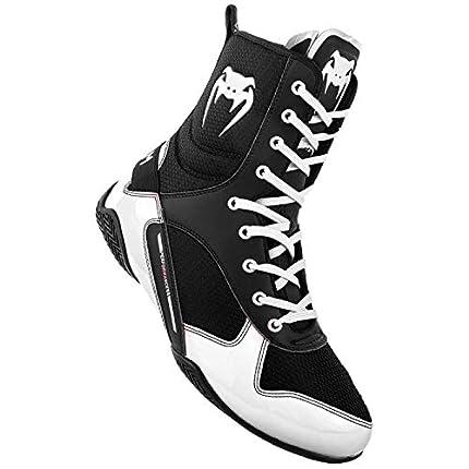 Venum Elite, Zapatillas de Boxeo Unisex Adulto, (Negro/Blanco 108)), 38.5 EU/6.5 US