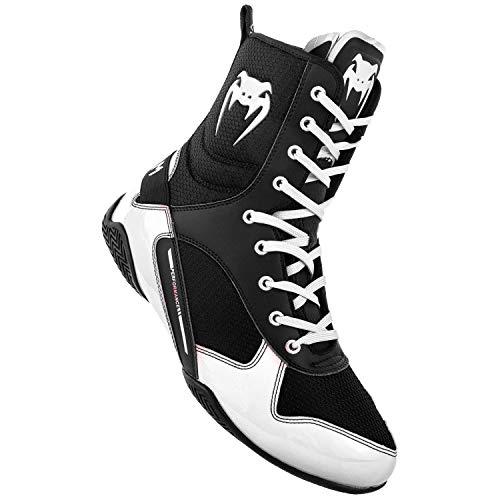 Venum Elite, Zapatillas de Boxeo Unisex Adulto, (Negro/Blanco 108), 38.5 EU