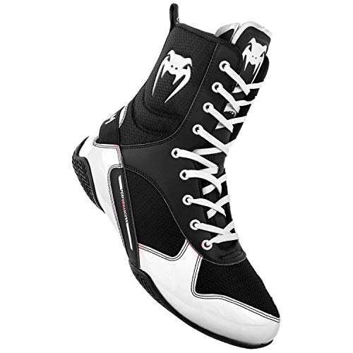 Venum Elite Boxing Shoes - Black/White - 36,5 (US 4)