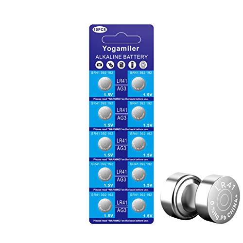 Yogamiler 10 Pack LR41 AG3 392 192 SR41 384 736 L736F 1.5V Button Cell Battery