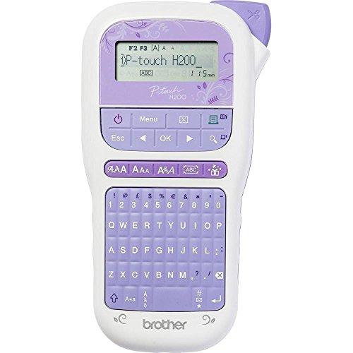 Brother PT-H200 Beschriftungsgerät (für den Bastel- und Dekobedarf, für 3,5 bis 12 mm breite TZe-Schrift- und Textilbänder, 30-999 mm einstellbare Etikettenlänge)