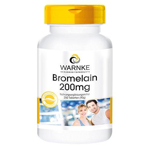 Bromelain Tabletten - 200mg Bromelain pro Tablette - 500 F.I.P - natürliches Ananasenzym - vegan & hochdosiert - 250 Tabletten - Großpackung