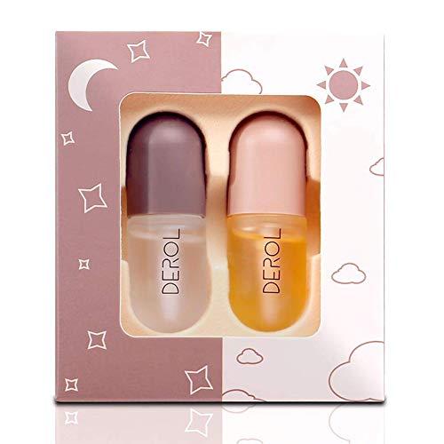 TEEROVA Lip Plumper - Natural Lip Plumper and Lip Care Serum Set, Lip Enhancer Lip Maximizer Lip Gloss for Fuller & Hydrated Beauty Lips