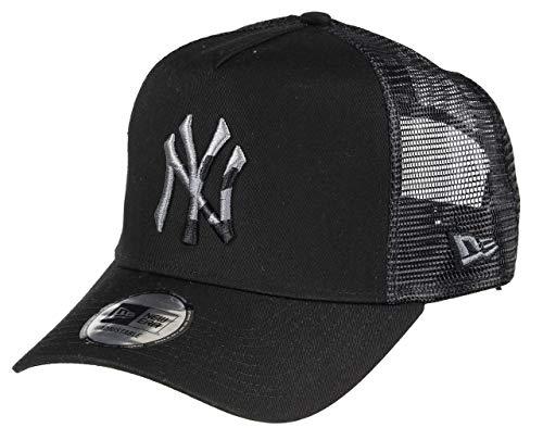 New Era New York Yankees A Frame Adjustable Trucker Cap Camo Infill Black - One-Size
