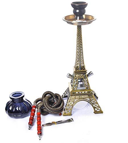 Gstar 15 Pulgadas Torre Eiffel 1 Cachimba Full Set-Mini Pumpkin Hookah, Hoodah