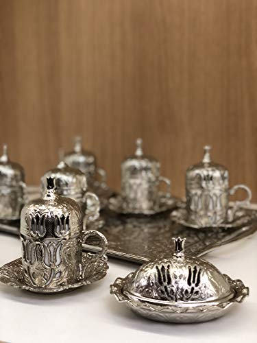 Mokka Mokkaservice Set | Türk Kahve Seti 6 Personen | Türkisch Kaffee Set | Osmanli Seti
