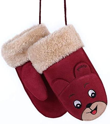 New Winter Boys Girls Gloves Cute Warm Rope Full Finger Mittens Gloves for Children Kids - (Color: Z19)