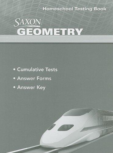 Saxon Geometry: Homeschool Testing Book