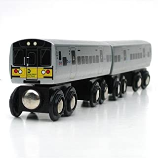 Munipals Wooden Train Long Island Railroad 2 Car Set