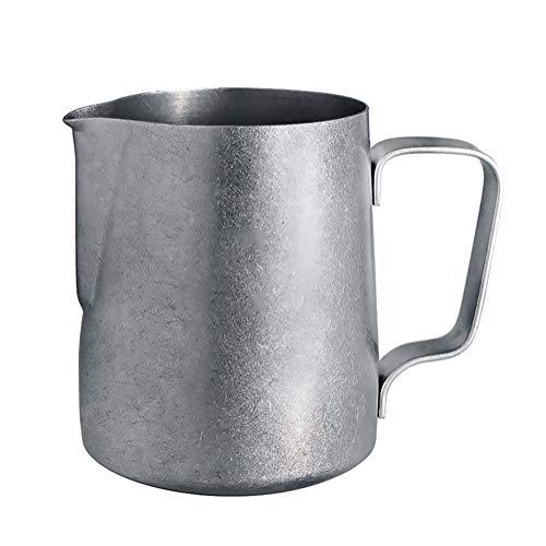 MFWFR Tazza di Latte Schiuma Lanciatore, Tazza Lanciatore retrò, Acciaio Inox 304 Serbatoio del Latte, caffè Tirare Cilindro Fiore, Tazza di Latte Schiuma di Punta,M2