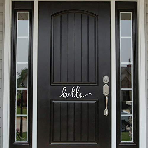 Hello Decal, Hello deurteken, ontry Way Decor, voordeur, 12 inch in breedte