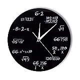 jasonding Números De Ingeniería Matemáticas Reloj De Pared Ecuación Matemática Reloj Decorativo Pop Quiz Arte De La Pared Ciencia Regalo para Matemáticos Frikis Y Maestros