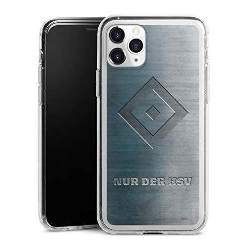 DeinDesign Silikon Hülle kompatibel mit Apple iPhone 11 Pro Case transparent Handyhülle HSV Hamburger SV Metallic Look