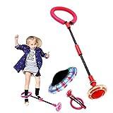FunPa Ball überspringen, Flashing Swing Ball Blinkender Springring Springseile Tanzen Spielzeug Fußball Übung Fitnessgeräte Geschenk für Kinder Erwachsene Heim Sportspiel