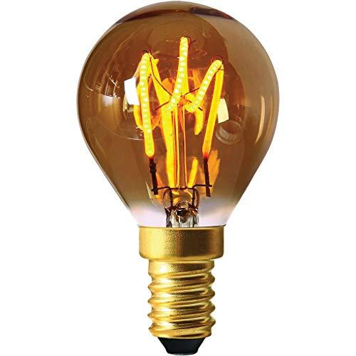 Girard Sudron 716642-LED golfbal C45 LED-lamp, 45 mm, E14, kleine Edison-fitting, 100 lumen, dimbaar, 3 W, barnsteenkleuren