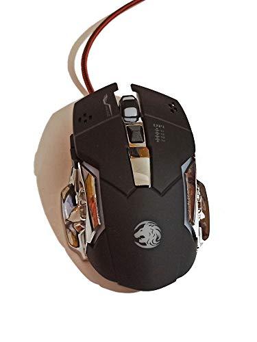 High-Performance Gaming-Maus, 16000 DPI Optischer Sensor, RGB-Beleuchtung, Gewichtstuning, Anpassbare Spielprofile, PC/Mac (Schwarz - Grün)