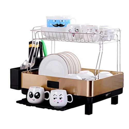Qiutianchen Edelstahl Küchenständer Dish Rack Drain Rack liefert Trocknungsgeschirr Lagerregal Küchelregal