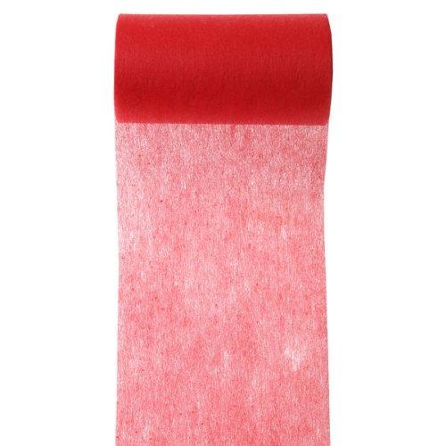 Weddix 'Tovaglioli/tavolo Band Tessuto non tessuto, rosso, 10m–Elegante tavolo Band in rosso in tessuto non tessuto per la decorazione